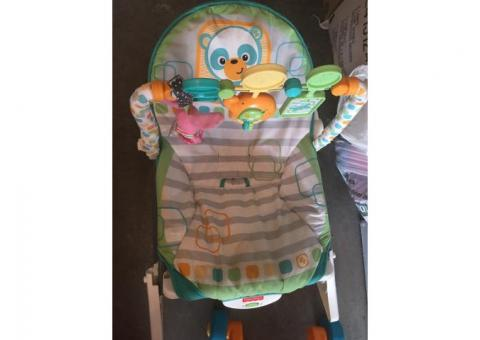 Infant to toddler rocker and baby walker