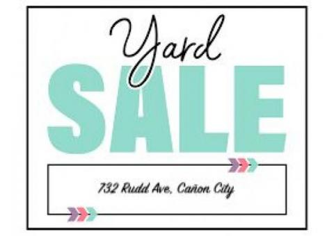 Yard Sale - 732 Rudd Ave in Cañon City - Thur, Fri & Sat !