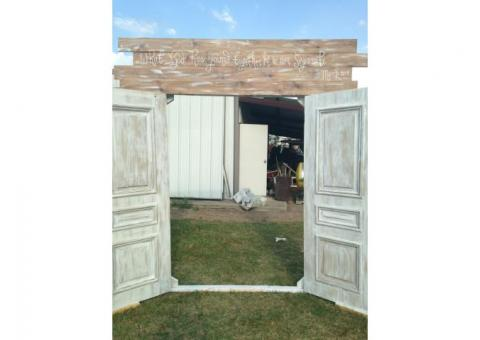 Solid Wood, White washed doors