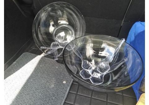 Heavy duty deep glass bowls