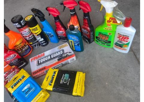 All New Auto cleaning chemicals, parts