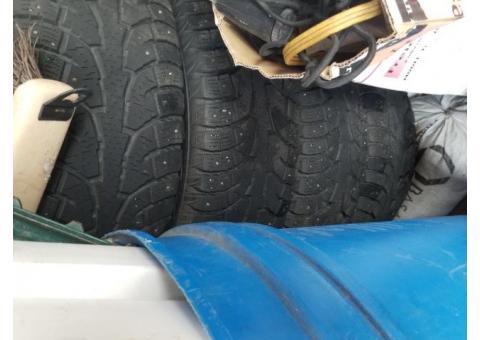 Studded snow tires